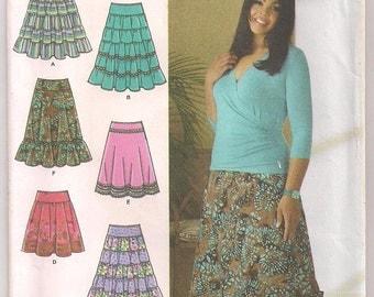 Skirt Pattern Simplicity 4283 Southwestern Ankle Length Skirt, Khaliah Ali Celebrity Pattern  10 12 14 16 18