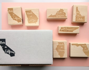 Made In State Pride Rubber Stamp