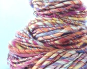 URBAN SUNSET - Hand Spun Art Yarn. Knitting Crochet Weaving Wool
