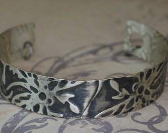 Sterling Silver Cuff Dragonfly Pond