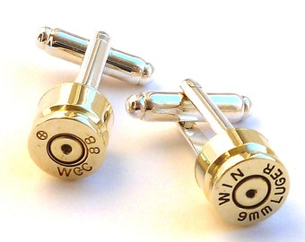 Bullet Shell Cufflink Brass Cufflinks Wedding Gifts Groomsman Best Man Biathlon Father of the Bride Father of the Groom Ring Bearer Awesome