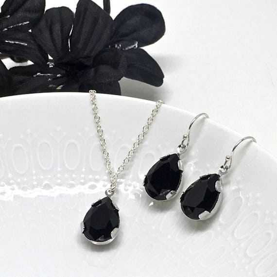 black prom jewelry set backdrop necklace black prom jewelry
