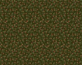NEW Liberty Hill Quilt Fabric 100% Cotton Americana  One Yard Cut of Coordinating Green Fabric