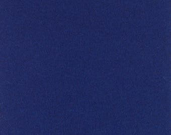 "Dark Blue Solid Tone Designer Wool Felt by the Foot - 100% Wool, 70.9"" Wide, 3mm and 5mm Thicknesses Available, Buy More Save More"
