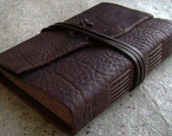 "Rustic leather journal, 4"" x 6"", old world journal, leather travel journal, leather sketchbook, (2399)"