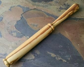 Nostepinne - Yarn Ball Winder - Wood Nostepinne - Hand Turned Olive Wood Wooden Nostepinne - Fiber Artist Gift