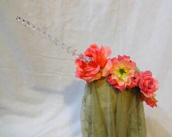Sunset Roses Unicorn light up Flower Crown