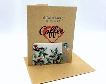 Coffee Gift Card, Coffee Thank You, Thank You Card, Gift Card Holder, Coffee Lover, Happiness Card, Card for Friend, Teacher Gift, Coffee