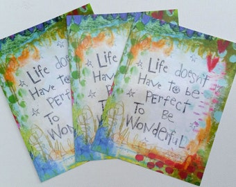 Life Doesn't Have to be Perfect Postcard Set