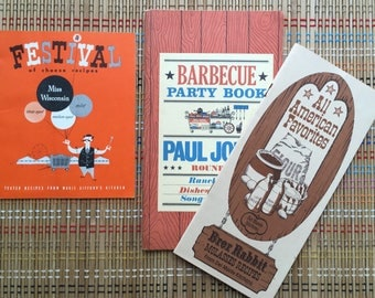 Trio of Vintage Summer Time Cook Booklets:  BBQ, Cheese Festival & Molasses Syrup!