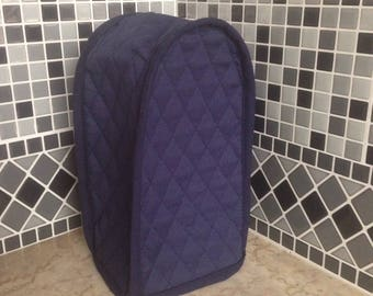 Navy Blue Quilted Can Opener Cover Reversible Ready to Ship Next Business Day