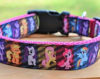 My little Pony dog collar & or leash on pink webbing