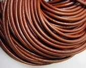 12 ft Round brown leather cord 4mm warm chocolate brown wrap bracelet making supply WL-A003-2