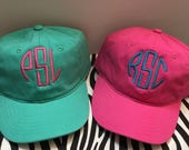 Preppy Monogrammed Youth Baseball Cap Personalized Kids Hat Youth Ball Caps