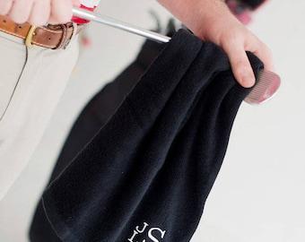 Personalized Black Golf Towel Women's Black Golf Towel Monogrammed, Men's Gift for Dad Graduation Unisex
