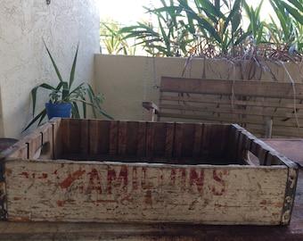 Vintage Hamilton's Soda Crate