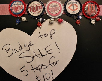 Badge Top Grab Bag 5 Tops for TEN DOLLARS!