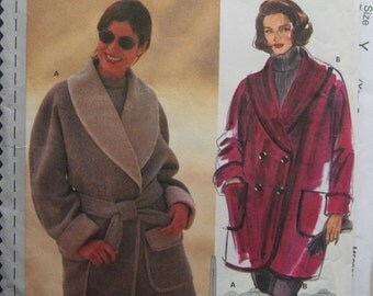 Burda 3080/Uncut Sewing Pattern/Misses, Women's Easy Sew Coat, Jacket/Size 10-20