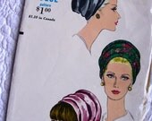 SALE:) Vintage Vogue Pattern 7034   * Ladies' Turban Hat Pattern * One Size * FACTORY FOLDED