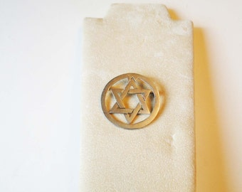 Sterling Silver Star of David Brooch Hanukkah Ready