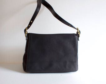 Vintage Black Leather Genuine Coach Purse Handbag