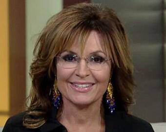 Sarah Palin Earthquake Earrings  smallest version