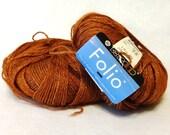 Stash Sale - Berroco Folio Yarn, Alpaca Yarn, Rayon Yarn, Copper Alpaca Yarn, Berroco Yarn, Sale Yarn, Copper - 2 balls