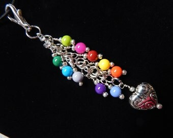 Purse Zipper Charm Beaded work lanyard Designer Handbag Identification tag key ring 131