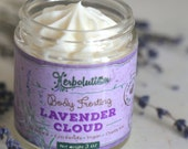 Lavender Cloud Body Frosting. Organic Body Lotion. Vegan body butter. Natural moisturizer with Shea butter and Coconut oil