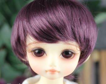 """Fatiao - New Dolls Wig Dollfie Yo-SD 1/6 BJD 6-7"""" size - eggplant"""