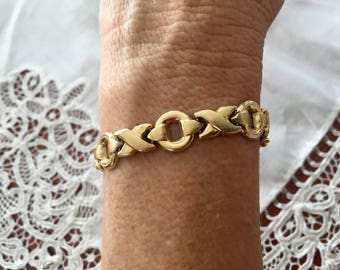 14K Yellow Solid Gold RCI (Hugs and Kisses) Bracelet 11.36 Grams  90 Day Layaway Available Gift for Her or Him