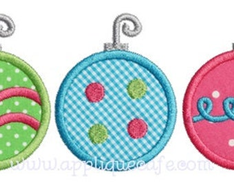 896 Ornament trio Machine Embroidery Applique Design