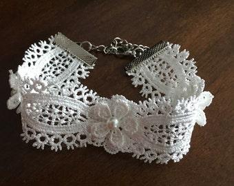 Ivory Lace Bracelet