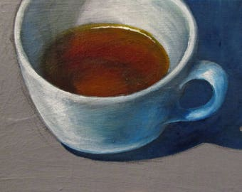 Evening Tea - original daily painting by Kellie Marian Hill