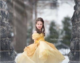 Belle inspired princess dress  size 4 ball gown