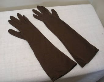 Vintage Dark Brown Wear Right Gloves - Made in Western Germany