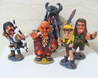 Cimmerian Barbarian Figurine Set ( Cutie Style)*Made To Order*