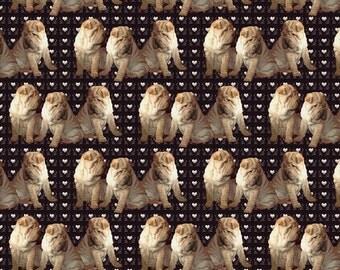 SharPei Puppies  fabric