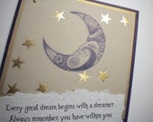 EVERY GREAT DREAM ~ Mixed Media Greeting Card with inspirational quote by Harriet Tubman