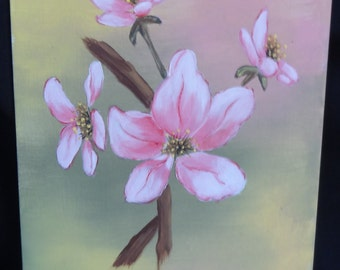 Acrylic Painting of Blossoms