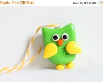 CHRISTMAS SALE Polymer Clay Owl Ornament