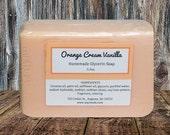 Soap ~ Bar Soap ~ Homemade Soap ~ Handcrafted Soap ~ ORANGE CREAM VANILLA Fragrance
