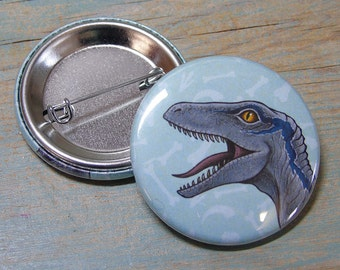 Velociraptor Illustration Badge 38mm (x1)