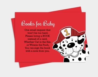 Fireman Baby Shower Invitation Dalmatian Invitation