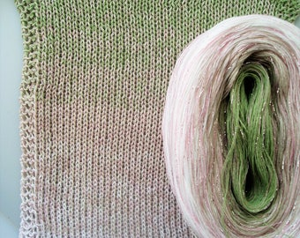 FAIRY DUST GLITTER 2 -- Color Changing Cotton yarn  480 yards/100 gr  Fingering Weight