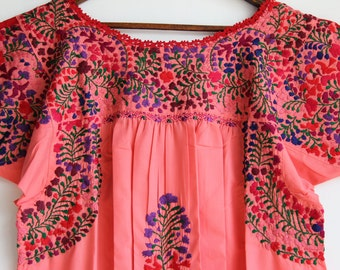 Multi colored on Coral peach  Mexican Wedding Dress