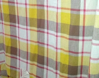 Vintage plaid bedspread