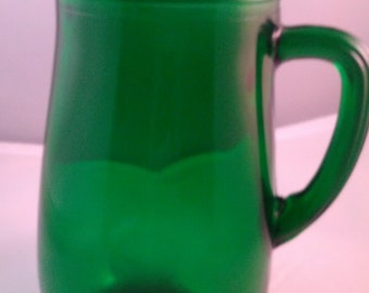Anchor Hocking Forest Green pitcher