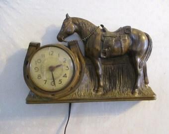 Mastercrafters Horse Clock Wall or Desk clock