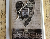 Love Themed Heart Card with Vintage Image of Children